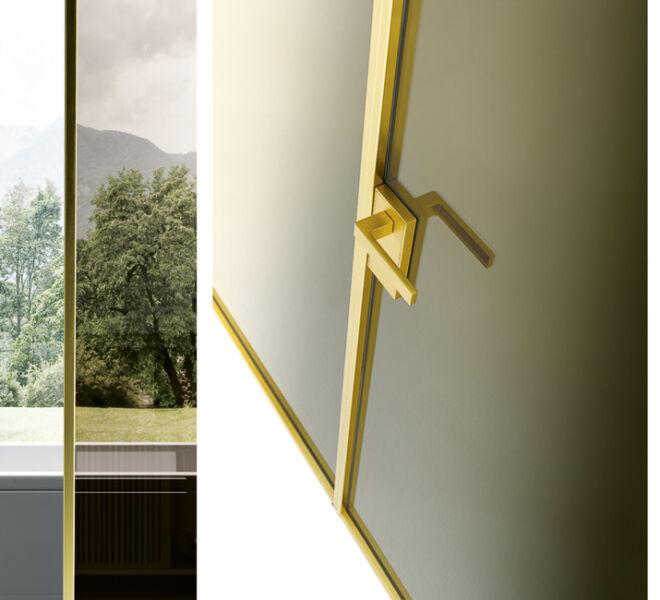 porte-interne-vetro-e-alluminio-finitura-gold-interior-hinged-doors-italiandesign